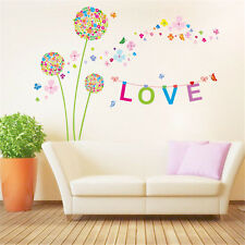 Dandelion Flowers Room Decor Removable Wall Sticker Decal Decoration Wandtattoo