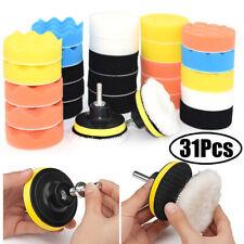 Sponge Buffing Polishing Pad Kit Car Polisher with Drill Adapter 31pcs 3 Inch