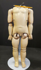 """19"""" Antique German Composition Doll Body"""