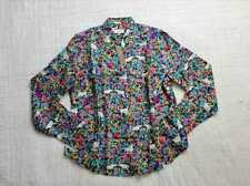 NEW WOMENS 14 18 20 22 J CREW COLLECTION SILK TWILL SHIRT IN GRAZING GOATS PRINT