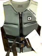 O'Brien Watersports Mens Flex V-Back Lightweight Life Jacket, Black, Size Medium