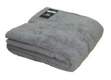 Extra Large Grey Bath Sheet Jumbo Towel 100% Cotton 150cm x 200cm 500gsm