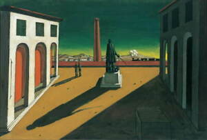 Giorgio de Chirico Plaza Giclee Canvas Print Paintings Poster LARGE SIZE
