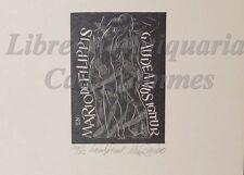 """EROTICA - Ex-Libris Originale Firmato """"Gaudeamus Igitur"""" Mario De Filippis"""