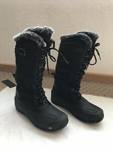EUC North Face Women's Shellista Lace Boot Tall Insulated Sz 8 Faux Fur -25F