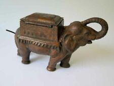 Vintage Cast Iron Crank the Tail Elephant Cigarette Roller Dispenser