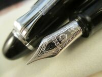 SAILOR 1911 Large Profit Black 21k Gold Rhodium plated M nib Fountain Pen Japan