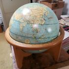 """ANTIQUE WEBER COSTELLO 16"""" Wood Base Political, Reality, Physical"""
