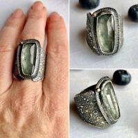 Vintage Jewelry Gift 925 Silver Wedding Ring Sapphire Gemstone Men Cool Size6-10