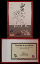 Civil War Front Line #1A Signed Michael Turner! Wizard World Chicago 06 COA NM/M