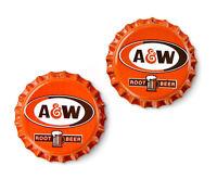 A and W (R) Bottle Cap Cufflinks