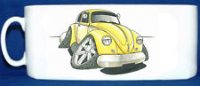 KOOLART - VW BEETLE 1300 MK1 - GLOSSY PHOTO MUG -YELLOW