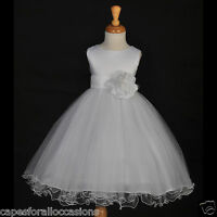 FLOWER GIRL DRESS WEDDING PAGEANT EASTER HOLIDAY 12M-18M 2/2T 4/4T 5/5T 6 8 9 10
