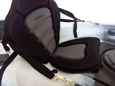 Deluxe Adjustable Fishing Kayak Canoe Seat Padded Backrest Strap Snap Hooks