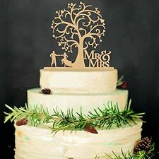 Adeeing Bride and Groom Proposal Wedding Party Decorating Wooden Cake Topper Mr