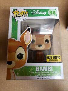 Funko Pop Bambi Flocked disney Hot Topic exclusive