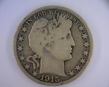 1915 Silver 50 cents Barber Half No Reserve NR (RC1989)