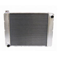"""26"""" Inch Ford Single Pass Aluminum Radiator with Mounting Holes Passenger Inlet"""