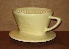 Porte filtre MELITTA en porcelaine 100 jaune 3 trous déco cuisine cafetière