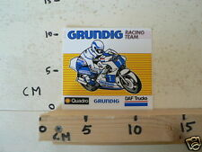 STICKER,DECAL GRUNDIG RACING TEAM MOTO GP,DAF TRUCKS,SHELL QUADRO B