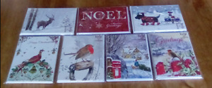 8 x christmas cards assorted designs new in pack 16.5cm x 12.5cm