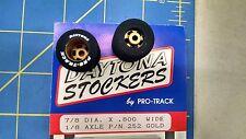 Pro Track #252G Gold Daytona stockers 7/8 x 800 wide 1/8 axle Mid America