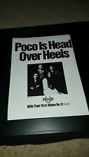 Poco Head Over Heels B&W Rare Original Promo Poster Ad Framed!