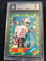 1986 TOPPS Jerry RICE RC BGS 9 MINT