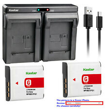 Kastar Battery Slim Dual Charger for Sony NP-BG1 NPFG1 Cyber-shot DSC-H50 Camera