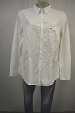 BRAX Damen Bluse Hemd Stretch Klassisch 46 Weiß Gepunktet wie neu