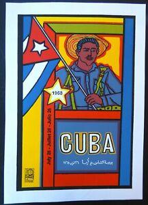 Pop Art CUBAN Revolution Mini Poster Masterpiece by Raul Martinez / OSPAAAL Cuba