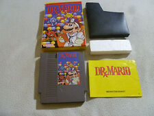 BOXED NINTENDO NES VIDEO GAME CARTRIDGE DR MARIO COMPLETE W BOX & MANUAL PUZZLE