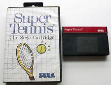 SUPER TENNIS pour SEGA Master System I & II-testé fonctionne