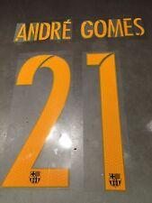 Andre Gomes 21 - 2015-16- 17 FC Barcelona Soccer Jersey Name Set- Adult size