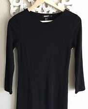 Women's DKNY Black Stretch Long Sleeve Dress Size Small 90's Style