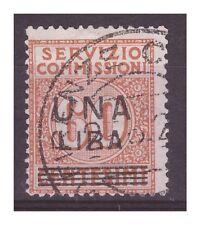 REGNO 1925 - SERVIZIO COMMISSIONI  1 Lira su cent. 60  USATO