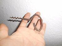 Ancien Tire Bouchon Ancienne Vrille Art Populaire Métal Point Interrogation