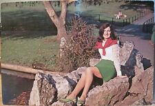 Vintage Postcard Irish Colleen - Cailin Eireannach Modern Girl 1971 Ireland Npo