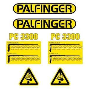 Decal Sticker Set Palfinger PC3300 Crane Decal Set