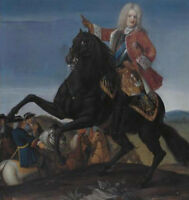 """oil painting handpainted on canvas """"King of Poland riding on a horse""""@N4827"""