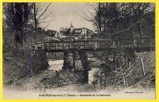 cpa 36 - ST  BENOIT du SAULT (Indre) PASSERELLE de la BARBAUDE Rivière VILLAGE