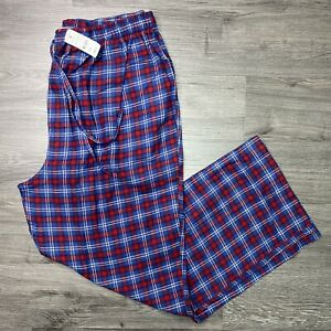 BROOKS BROTHERS Men's Small Flannel Pajama Lounge Pants Red Blue Plaid NWT