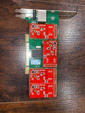 TDM410P v2.1 - Asterisk 4 Port FXO 2U PCI Card - PBX DAHDI SIP VOIP FREEPBX