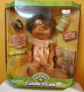 Mattel 2000 Cabbage Patch Kids Cuddle n Care NIB Brown Hair/Eyes Rachel Allison