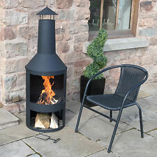 Extra Large Garden Chimenea Chimnea Fire Pit Patio Heater Outdoor Burner Black