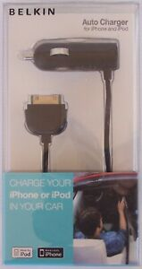 BELKIN 12v CAR USB + CHARGE / SYNC CABLE LIGHTNING CONNECTOR IPHONE 5 6 PLUG