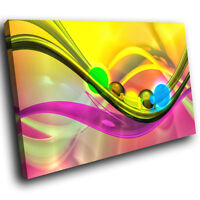 ZAB928 Colourful Cool Funky Modern Canvas Abstract Home Wall Art Picture Prints