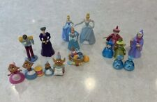 Lot of Vintage Disney Figures-Cinderella Mice Fairy Godmothers Prince Charming