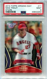 2013 Topps Opening Day Stars 11 Mike Trout PSA 9 MINT