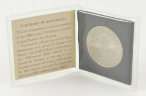 2000 Liberia $10 - Millennium Liberty - With Fold-Out COA *607